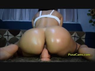 Curvy Latina Dildo Ride